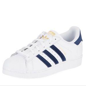 NWT Adidas Superstar Sneaker with velvet stripes